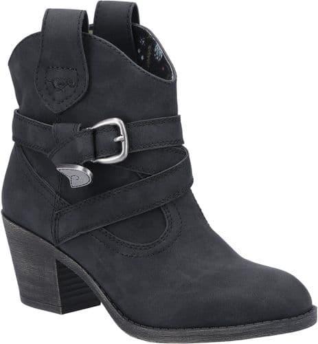 Rocket Dog Satire Ladies Ankle Boots Black